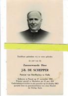 J-b De Schepper Priester Orp-le-grand-lembeek-etterbeek-halle) O Pamel 1890 +halle 1963 - Images Religieuses