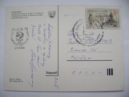 Commemorative Postmark PRAHA Den Svetove Postovni Unie - World Stamps Exhibition PRAGA '88, Postcard Pardubice - Cartas