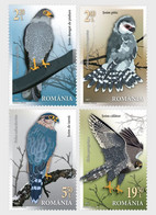 ROMANIA 2021: BIRDS - FALCONS 4 Mint Stamps Set  - Registered Shipping! Envoi Enregistre! - Nuovi