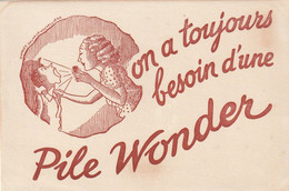 Rare Buvard Piles Wonder - Accumulators