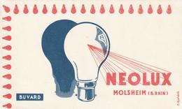 Rare Buvard Ampoules Néolux - Electricité & Gaz