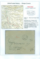 Persia - Persien -  Middle East  2. Shawwal 1343 (26.04-1925)  PRE-PAID Cover KACHAN - ISFAHAN - YEZD With Letter Inside - Irán