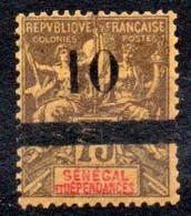 Sénégal N° 28 Neuf * - Type Groupe Surchargé - Unused Stamps