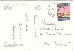 1968 £25 CAMPIONATI MONDIALI CICLISMO SU PISTA  SU CARTOLINA POSITANO SPIAGGIA DI FORNILLO - Ciclismo