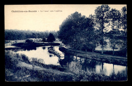58 - CHATILLON-EN-BAZOIS - LE CANAL - PENICHE - Chatillon En Bazois