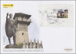 Block 72 UNESCO-Welterbe - Limes, Block Auf Schmuck-FDC Deutschland Exklusiv - Non Classificati