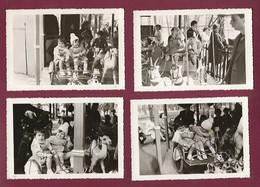 130221A - 4 PHOTOS - JEU JOUET ANCIEN MANEGE Attelage Chevre Chameau Cheval Fête Foraine - Giocattoli Antichi