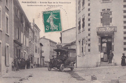 PANISSIERES         ENTREE RUE DE LA REPUBLIQUE. OMNIBUS  DEVANT HOTEL MAGAT - Otros Municipios