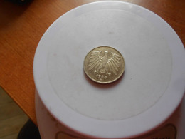 GERMANY    1988  G  -  5  MARKS   COIN  A / UNC - 5 Marchi