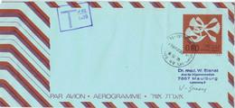 [A5] Aerogramm Jafo Jaffa 1975 > Maulburg - Nachgebühr 80/100 - Airmail