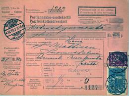 1930 , FINLANDIA , TARJETA DE ENVIO CONTRA REEMBOLSO , TAMPERE - SUOMUSSALMI - Cartas
