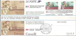 LETTER CANADA  -FRANCIA 1984 - Cartas