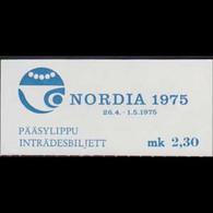 FINLAND 1975 - Exhib.Ticket-NORDIA Exhib. - Cartas