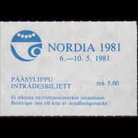 FINLAND 1981 - Exhib.Ticket-NORDIA Exhib. - Cartas