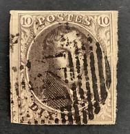 Medaillon 3 Perkamentpapier Gestempeld P121 TUBIZE - 1849-1850 Medallones (3/5)