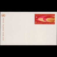 UN-NEW YORK 1966 - Pre-stamped Card-Flight - Cartas