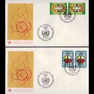 UN-GENEVA 1971 - FDCs - 19-20 Against Racism - Cartas
