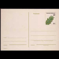 UN-VIENNA 1982 - Pew-stamped Card-Leaves S3 - Cartas