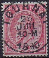 N° 46 Oblitération TOURNAI - 1884-1891 Leopold II