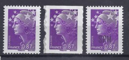 MARIANNE DE BEAUJARD N° 4474 (GOMME, ADHESIF, SPM)   LES 3 TP - 2008-13 Marianne De Beaujard