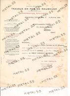 Travaux En Fer De Maubeuge, Douzies - Feignies, 1940 (constructions Métalliques, Chaudronnerie) - 1900 – 1949