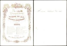 Belgique - Menu En Porcelaine Illustré (Mariage, Beveren 15 Juin 1870) / Fr. Hillegeer - Menu