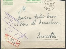 SOLDES - 1943 - COB N° 594, 596, 608 (x2) Oblitérés(o) Sur Lettre RECOMMANDEE - Briefe U. Dokumente