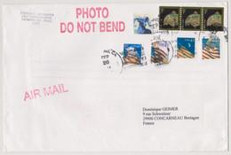 ETAT-UNIS USA 2008 Enveloppe Poste Aérienne Vers La France Affranch. Composés Liberty And Flag, Tiffany Lamp... - Cartas