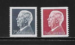 SUEDE ( EUSU - 832 )  1972  N° YVERT ET TELLIER  N° 755/756   N** - Nuovi