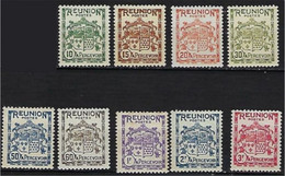 "Reunion Taxe YT 17 à 25 "" Armoiries "" 1933 Neuf** - Postage Due"
