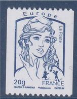 Marianne Et La Jeunesse 2013 Gommé X1 Lettre Europe -20g Roulette 218 à Gauche Sans Coupure Phosphore Neuf 4780 - Rollo De Sellos