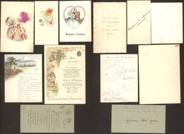 Menu - Petit Lot De Menus Illustrés X6 (1910 > 1950) - Menus