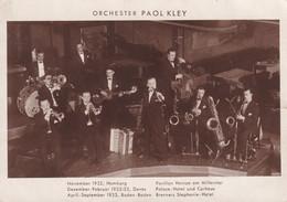 Cartolina Orchester Paol Kley. 1932/33 - Cantantes Y Músicos
