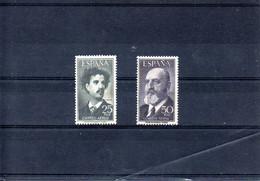 España Nº 1164-65 Fortunato Y Torres Quevedo MNH - Colecciones