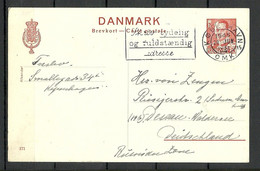 DENMARK Dänemark 1945 Ganzsache Stationery Card O Kobenhavn To Germany  Advertising Cachet - Ganzsachen