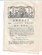 Arrest Du Conseil D'état Du ROY ...amendes Des Tables De Marbre..  Maîtrises Des Eaux Et Forêts.. - Gesetze & Erlasse