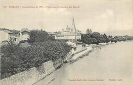 CPA 26 Drôme > Romans Sur Isere Inondations De 1914 L'Isère Sur Le Chemin Des Boeufs - Romans Sur Isere