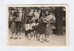 11108. Foto Vintage Ragazze Donne Che Ballano Fisarmonica Aa'40 Italia - 9x6 - Persone Anonimi