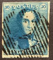 Epaulet 1 Gestempeld P4 ANVERS Licht-Melkblauw - 1849 Epaulettes