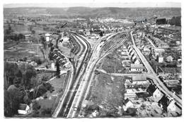 27 - EN AVION AU DESSUS DE... SERQUIGNY - La Gare Et Les Nouvelles Constructions - Ed. LAPIE N° 7 - Serquigny
