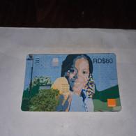 Dominicana-(orange-26rd$60)-(24)-(2342-6444-8142-13)-(31.12.2009)-used Card+1card Prepiad Free - Dominica