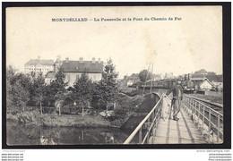 CPA 25 Montbeliard La Passerelle Et Le Pont Du Chemin De Fer Train - Montbéliard