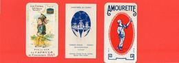 """Lot - Cartes Parfumées - """"DE LUZY: -L'ORIGAN -""""  §  """" Parfumée Au -TANGO - """"  § """" AMOURETTE """" . - Vintage (until 1960)"""