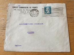 K16 France 1928 Lettre De Paris Pour Solothurn Suisse - Storia Postale
