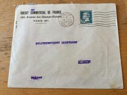K16 France 1927 Lettre De Paris Pour Solothurn Suisse - Storia Postale