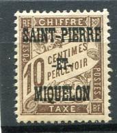 SAINT-PIERRE ET MIQUELON  N°  11 *  TAXE  (Y&T)   (Charnière) - Timbres-taxe