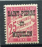 SAINT-PIERRE ET MIQUELON  N°  13 *  TAXE  (Y&T)   (Charnière) - Timbres-taxe