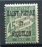 SAINT-PIERRE ET MIQUELON  N°  15 *  TAXE  (Y&T)   (Charnière) - Timbres-taxe