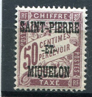 SAINT-PIERRE ET MIQUELON  N°  16 *  TAXE  (Y&T)   (Charnière) - Timbres-taxe