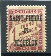 SAINT-PIERRE ET MIQUELON  N°  18 *  TAXE  (Y&T)   (Charnière) - Timbres-taxe